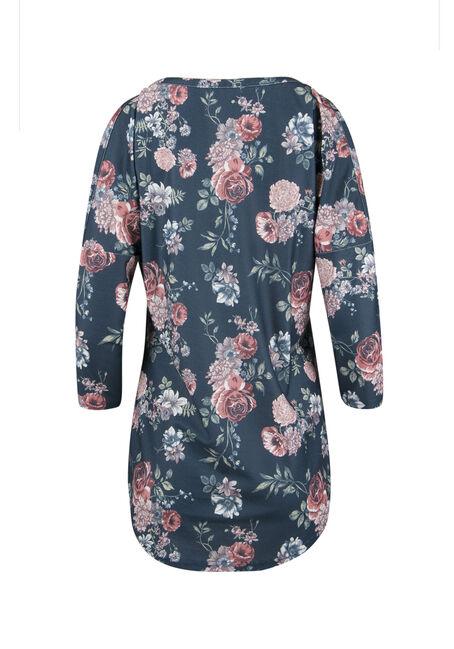Ladies' Washed Floral Top, ECLIPSE, hi-res
