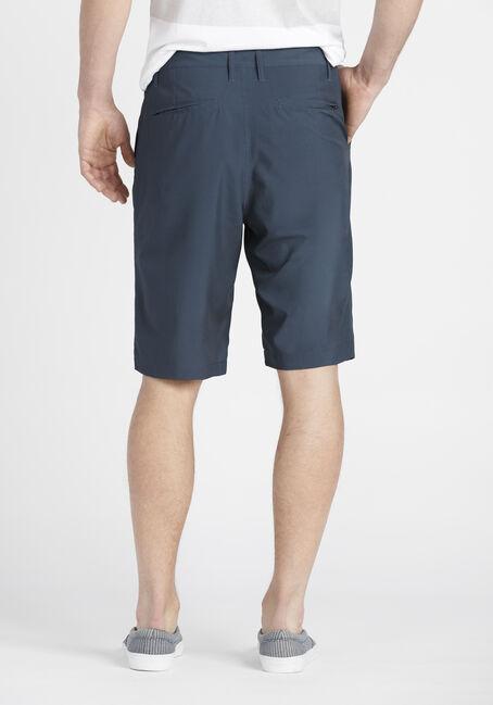 Men's Flat Front Hybrid Short, NAVY, hi-res