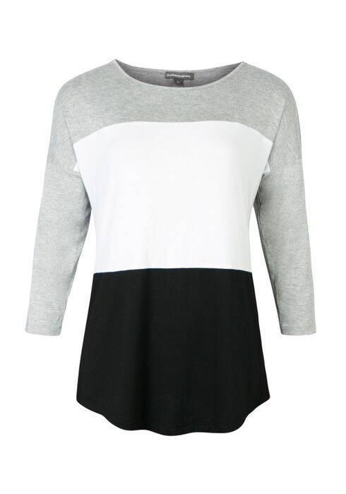 Ladies' Color Block Dolman, HEATHER GREY, hi-res
