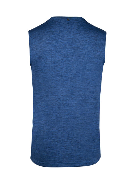 Men's Colour Block Athletic Tank, ROYAL BLUE, hi-res