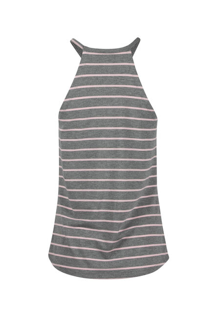 Ladies' Halter Tank, H.GREY/ROSEWATER, hi-res