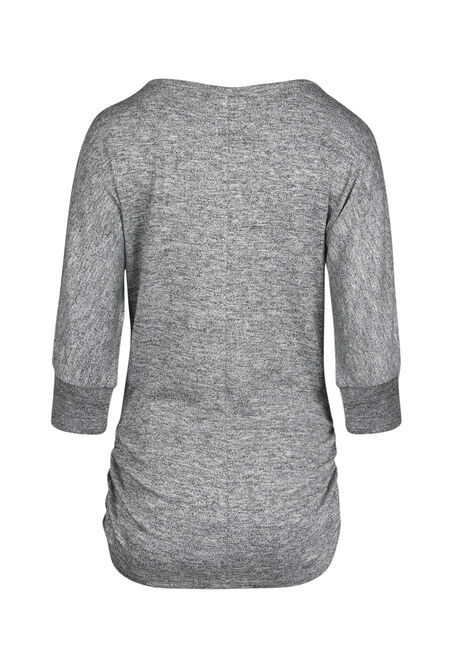 Ladies' Shimmer Dolman Top, CHARCOAL, hi-res