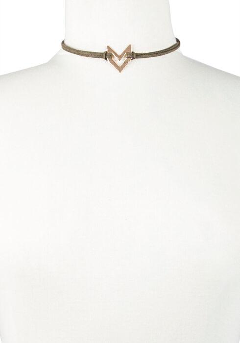 Ladies' Choker Necklace, DARK OLIVE, hi-res
