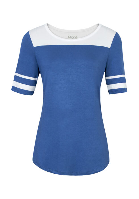 Ladies' Football Tee, MARINA/WHITE, hi-res