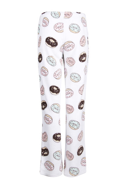 Ladies' Donut Plush Lounge Pant, WHITE, hi-res