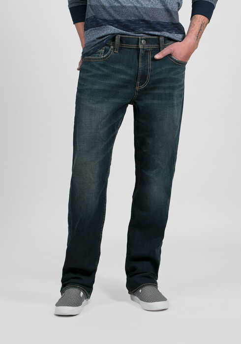 Men's Relaxed Straight Jeans, DARK VINTAGE WASH, hi-res