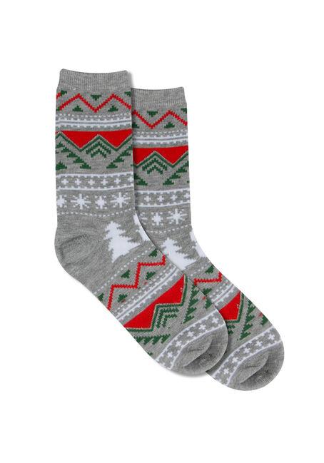 Ladies' Holiday Sweater Ornament Socks