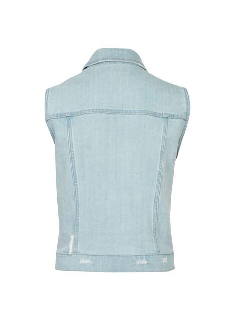 Ladies' Bleach Wash Jean Vest, BLEACH WASH, hi-res