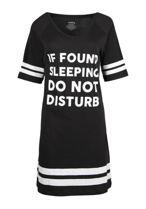 Ladies' Do Not Disturb Sleep Tunic, BLACK, hi-res