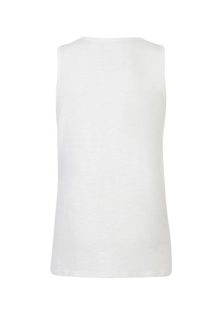 Men's Web Print Tank, WHITE, hi-res