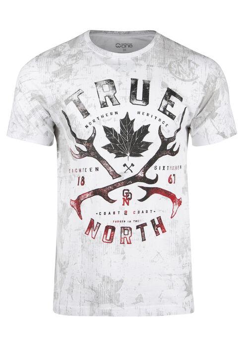 Men's True North Graphic Tee, WHITE, hi-res