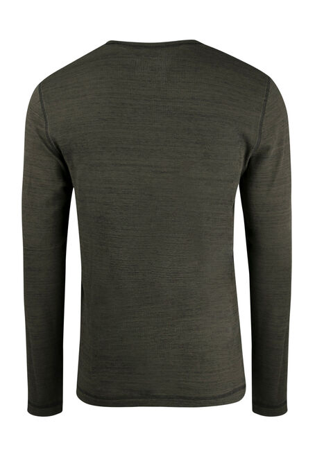 Men's Everyday Crew Neck Waffle Tee, DARK OLIVE, hi-res