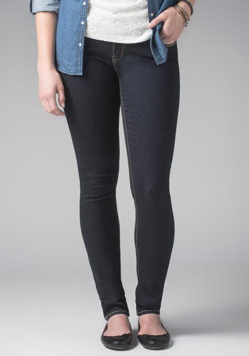 Ladies' Skinny Ink Wash Jeans, DARK WASH, hi-res