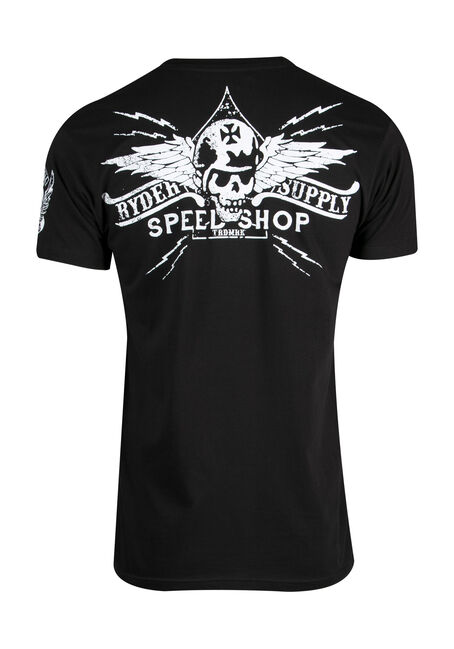 Men's Speed Shop Tee, BLACK, hi-res