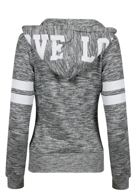 Ladies' Love Football Hoodie, MELANGE PLUM, hi-res