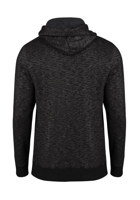 Men's Space Dye Popover Hoodie, BLACK, hi-res