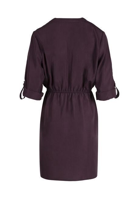 Ladies' Roll Sleeve Shirt Dress, HORTENSIA, hi-res