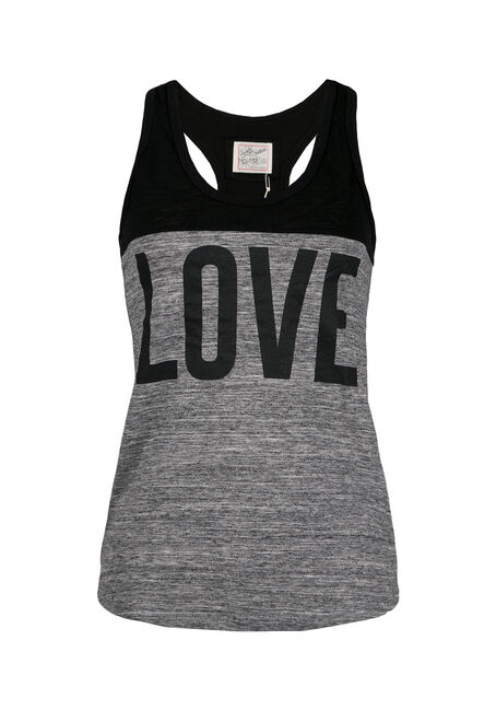 Ladies' Love Racerback Tank, BLACK, hi-res