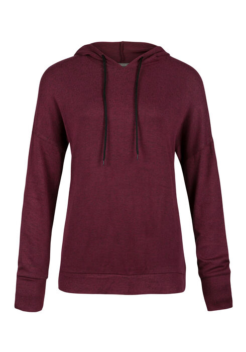 Ladies' Super Soft Popover Hoodie, WINE, hi-res