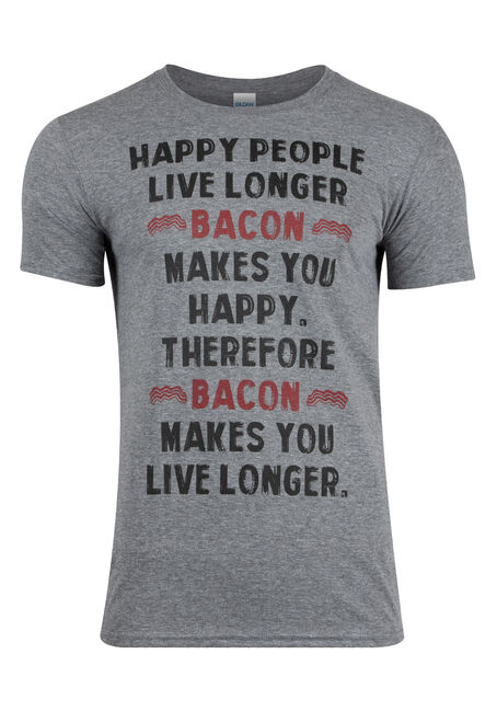 Men's Bacon Makes You Live Longer Tee