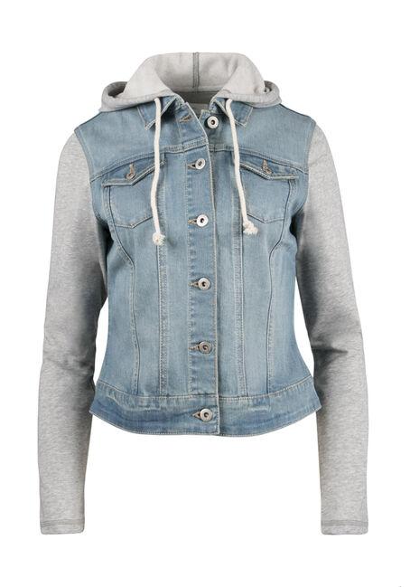 Ladies' Knit Sleeve Jean Jacket