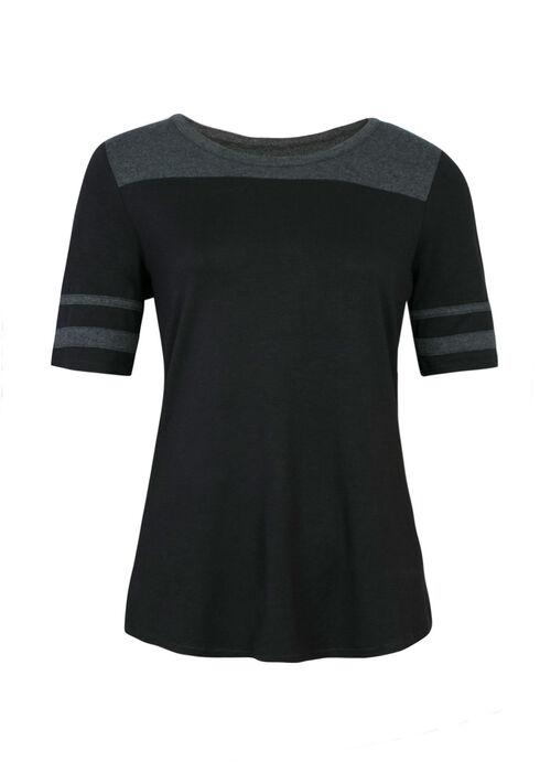 Ladies' Football Tee, BLACK/ H.GREY, hi-res