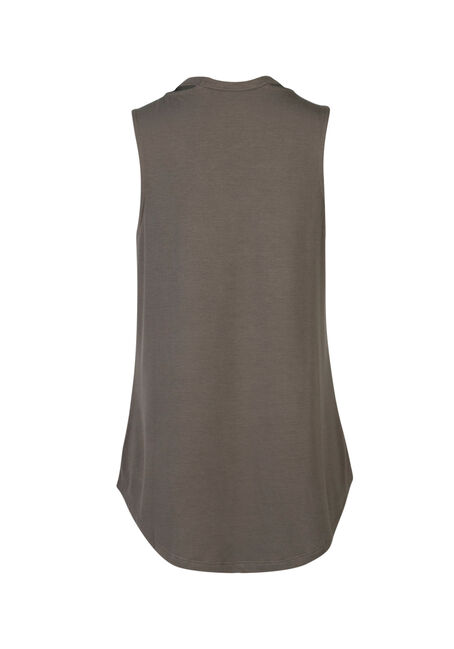 Ladies' Cut Out Tank, MOSS, hi-res