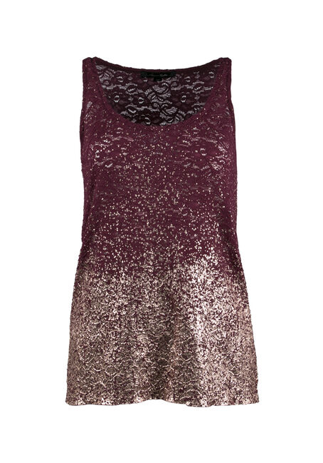 Ladies' Lace Ombre Sparkle Tank