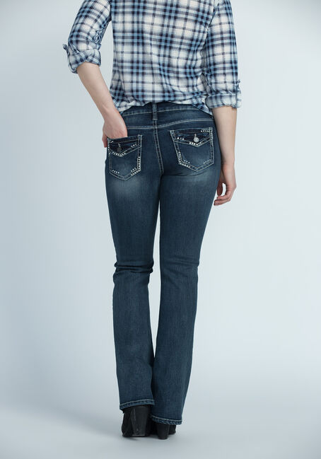 Ladies' Contour Boot Jeans, DARK VINTAGE WASH, hi-res
