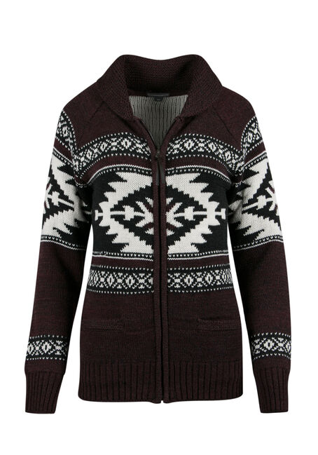 ladies' Nordic Zip Cardigan