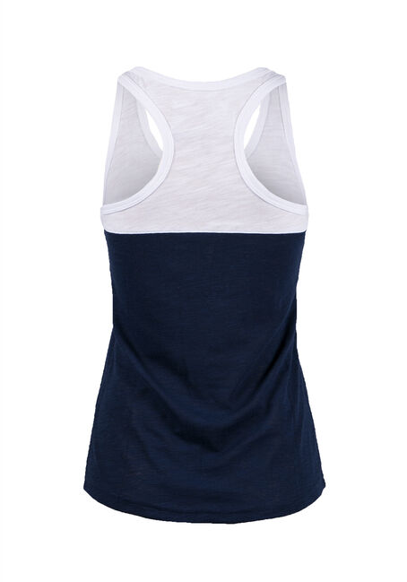Ladies' Love Racerback Tank, NAVY, hi-res