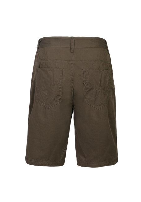 Men's Poplin Five Pocket Short, DARK OLIVE, hi-res