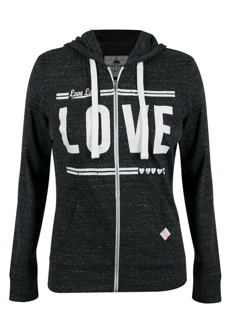 Ladies' Plus Size Love Zip Hoodie