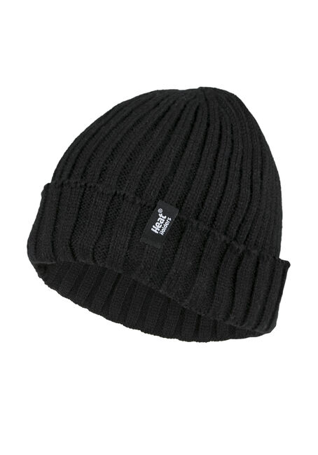 Men's Thermal Cuffed Hat, BLACK, hi-res