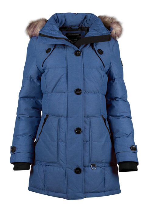 Ladies' Quilted Utility Parka, SODA BLUE, hi-res
