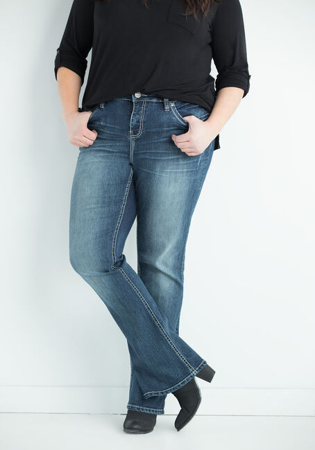 Ladies' Plus Size Contour Boot Jeans