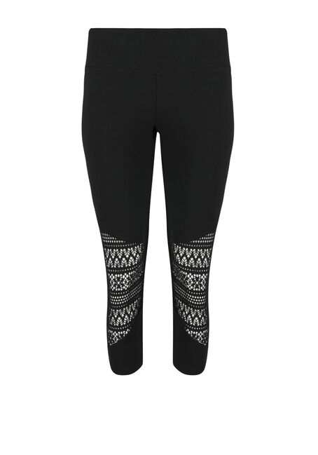 Ladies' Aztec Cut Out Capri Legging