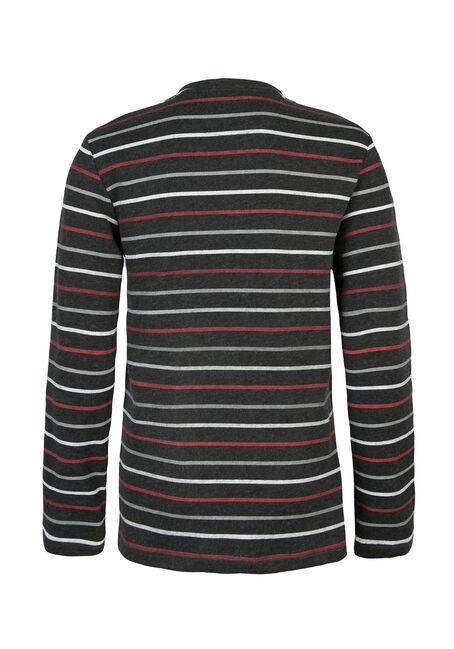 Men's Heavyweight Rib Knit Fooler Shirt, CHARCOAL, hi-res