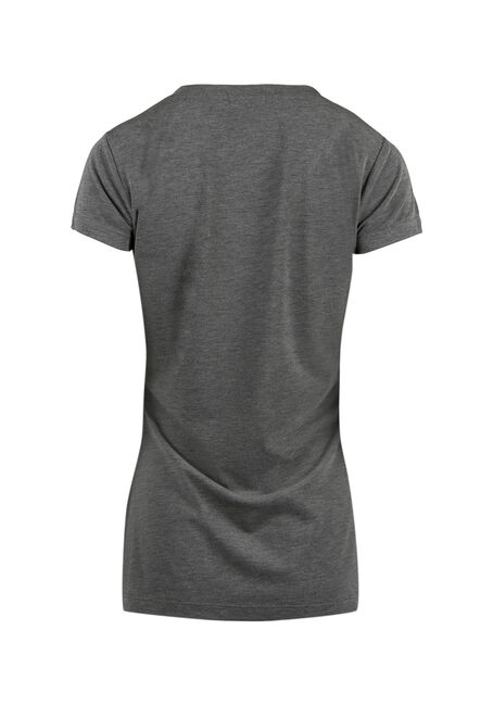 Ladies' Blitzen V-Neck Tee, HEATHER GREY, hi-res