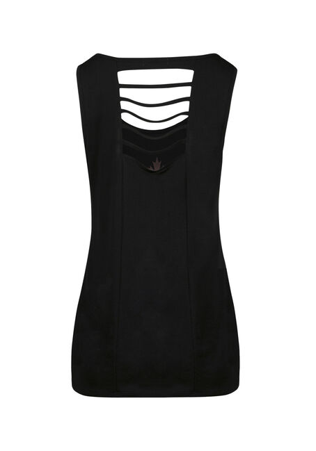 Ladies' Canadian Girl Ladder Back Tank, BLACK, hi-res