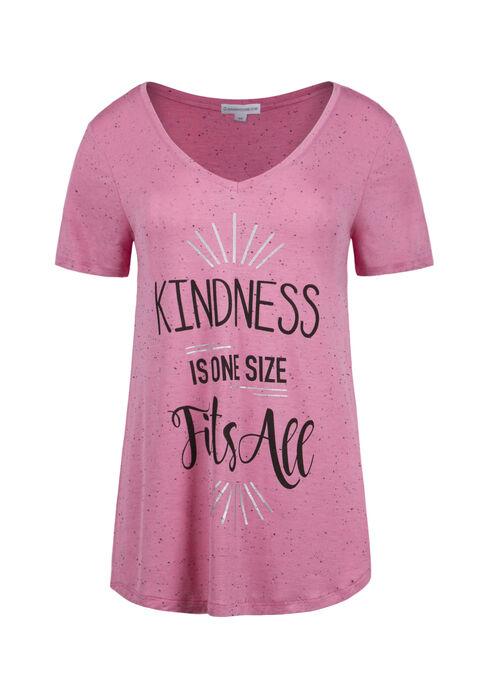 Ladies' Kindness Tee, BRIGHT PINK, hi-res