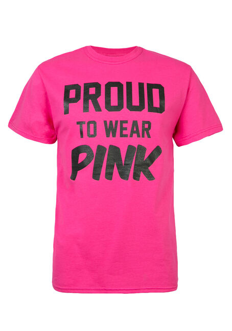 Men's Proud To Wear Pink Tee, DEEP PINK, hi-res