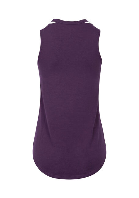 Ladies' Cut Out Tank, POWER PURPLE, hi-res
