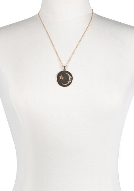 Ladies' Short Celestial Disc Necklace
