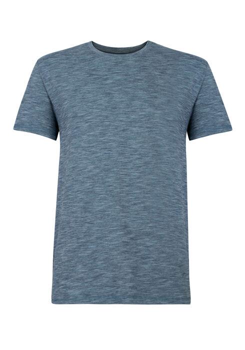 Men's Textured Crew Neck Tee, BLUE, hi-res