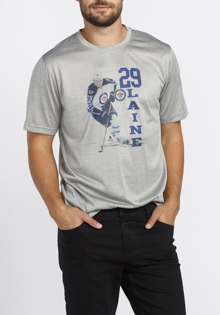Men's NHL Jets Tee, HEATHER PEBBLE, hi-res