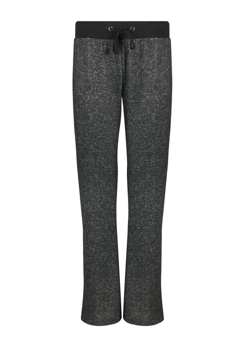 Ladies' Wide Leg Lounge Pant, CHARCOAL, hi-res