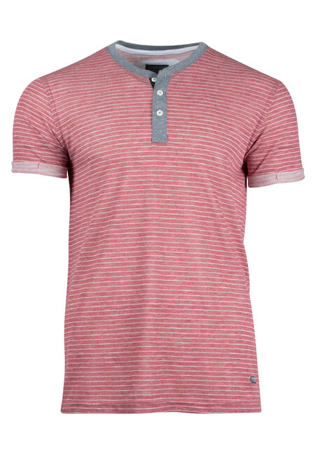 Men's Mini Stripe Henley Tee