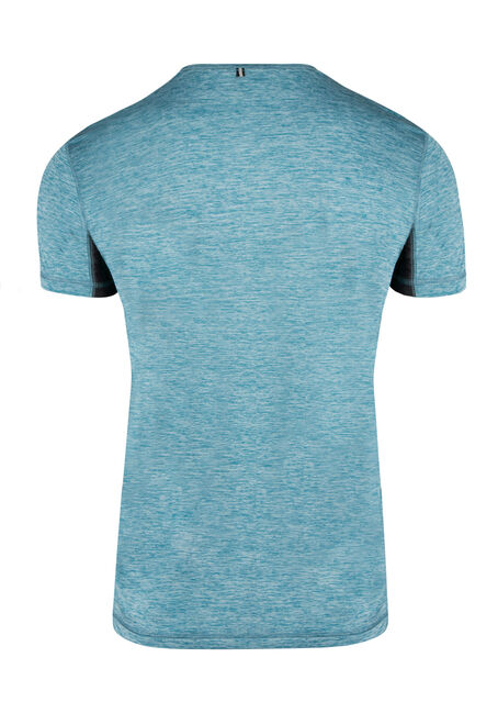 Men's Colour Block Athletic Tee, TURQUOISE, hi-res