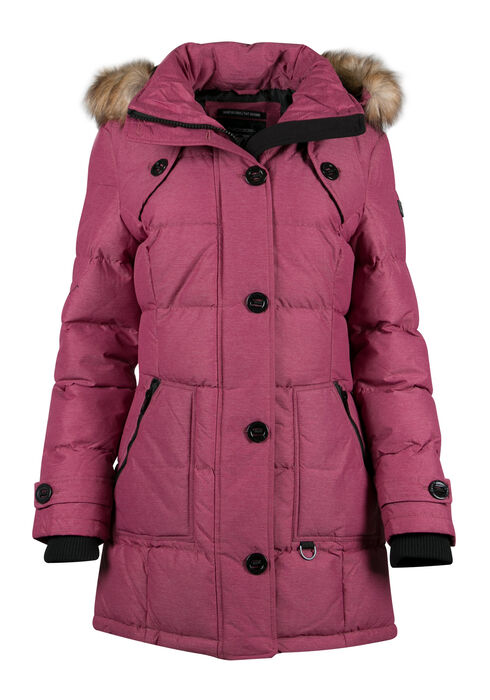 Ladies' Quilted Utility Parka, WINTERBERRY, hi-res